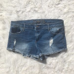 Rue21 Distressed Jean Shorts